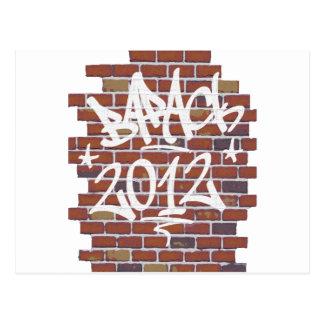 Barack Obama Schreiben auf den Wand Graffiti Postkarten