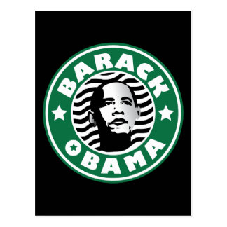 Barack Obama Stern-Koffein Postkarte