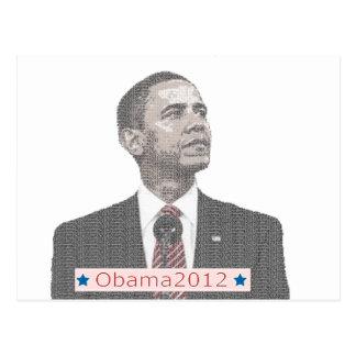 Barack Obama Text-Porträt 2012 Postkarte
