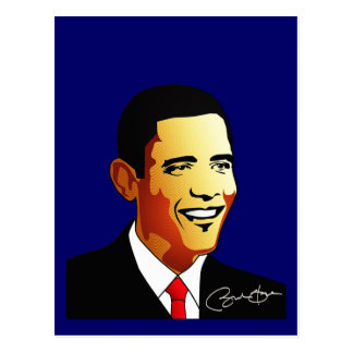 Barack Obama vektorillustration Postkarte