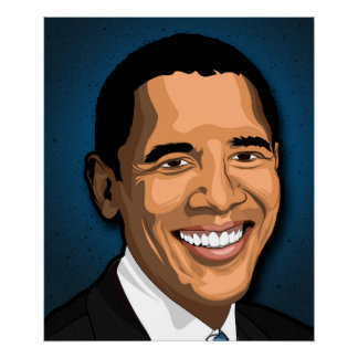 Barack Obama vektorporträt Poster