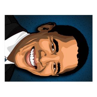 Barack Obama vektorporträt Postkarte