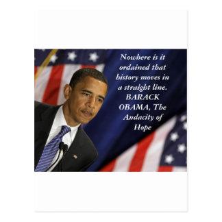 Barack Obama Zitat auf Geschichte Postkarte