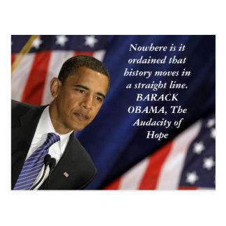 Barack Obama Zitat auf Geschichte Postkarten