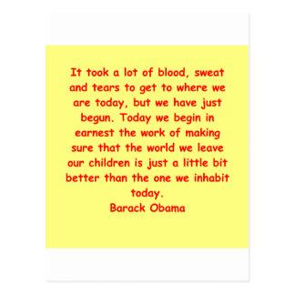 Barack Obama Zitat Postkarte