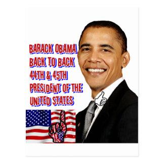 Barack Obama, zurück zu Back_ Postkarte