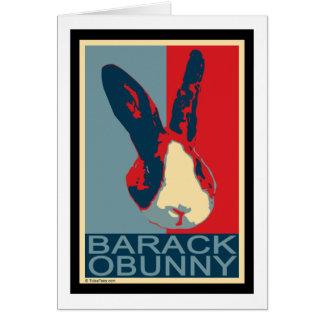 Barack Obunny Karte