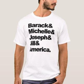 Barack u. Michelle u. Joseph u. Jill u. Amerika T-Shirt