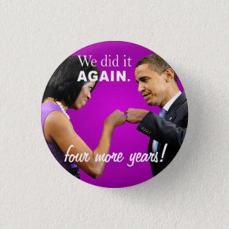 Barack und Michelle Obama Siegfauststoß Runder Button 2,5 Cm