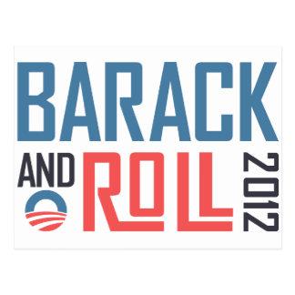 Barack und Rolle 2012 Postkarte