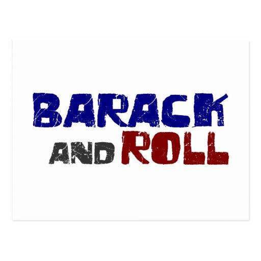 Barack und Rolle Postkarte
