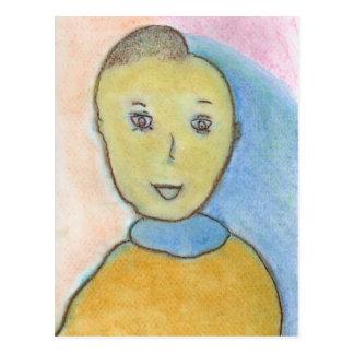 Barack, zeichnende Kreide, Kunst Postkarten