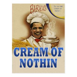 Baracks Creme von Nothin Postkarte
