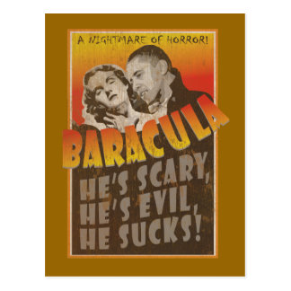 Baracula - Barack Obama Film-Plakat Postkarte