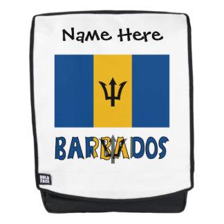 Barbadische Flagge und Barbados Rucksack