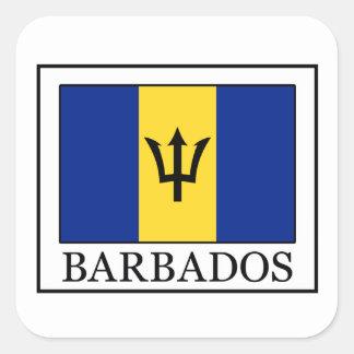 Barbados-Aufkleber Quadratischer Aufkleber