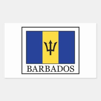Barbados-Aufkleber Rechteckiger Aufkleber