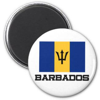 Barbados-Flagge Runder Magnet 5,7 Cm