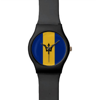 Barbados-Flagge Uhr