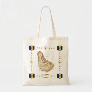 Barbados-Karte + Flaggen-Tasche Tragetasche
