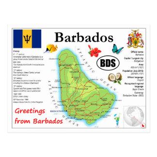Barbados-Karten-Postkarte Postkarte