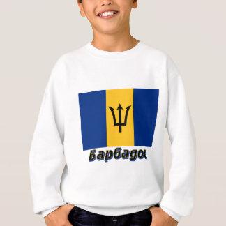 Barbados kennzeichnen mit Namen auf russisch Sweatshirt
