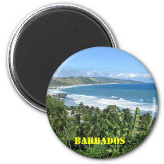 Barbados-Kühlschrankmagnet Runder Magnet 5,1 Cm