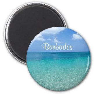 Barbados-Magnet Runder Magnet 5,1 Cm
