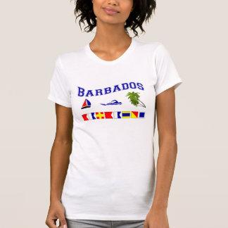 Barbados - (Seeflaggen-Rechtschreibung) T-Shirt