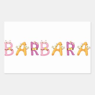 Barbara-Aufkleber Rechteckiger Aufkleber