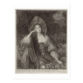 Barbara-Herzogin von Cleaveland (1641-1709) als Postkarten