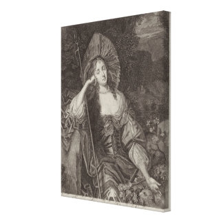Barbara-Herzogin von Cleaveland (1641-1709) als si Gespannte Galeriedrucke