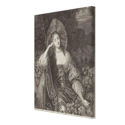 Barbara-Herzogin von Cleaveland (1641-1709) als si Leinwand Drucke