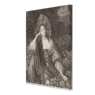 Barbara-Herzogin von Cleaveland 1641-1709 als si Leinwand Drucke