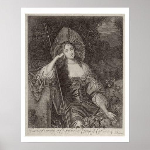 Barbara-Herzogin von Cleaveland (1641-1709) als si Poster