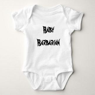 Barbell-barbarische Babyausstattung Baby Strampler