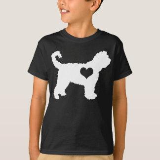 Barbet-Herz scherzt dunklen T - Shirt
