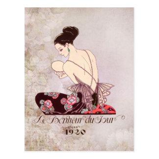 Barbier Franzosen Fashion Image Le Bonheur DU Jour Postkarte