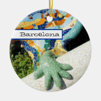 Barcelona-Eidechsen-Handmosaiken Keramik Ornament