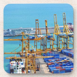 Barcelona-Hafen Getränkeuntersetzer