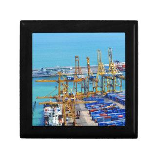 Barcelona-Hafen Schmuckschachtel