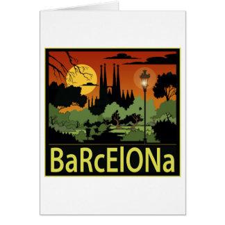 Barcelona-Karten Grußkarte