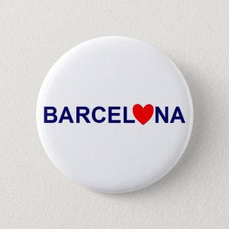 Barcelona love runder button 5,1 cm