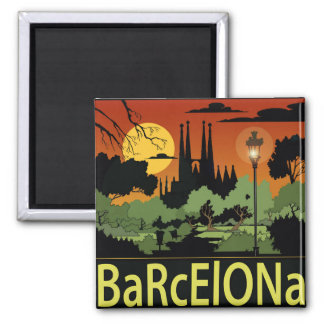 Barcelona. Magnet Quadratischer Magnet
