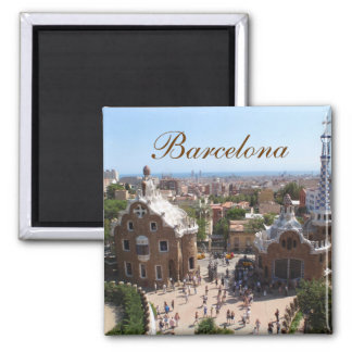 Barcelona-Magnet Quadratischer Magnet