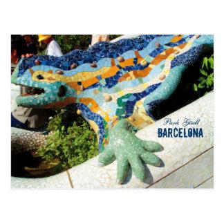 Barcelona-Park Guell Mosaiken Postkarte