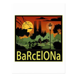 Barcelona Postkarte
