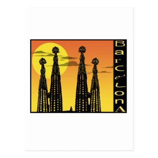 Barcelona-Postkarte Postkarte