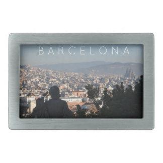 Barcelona-Postkarte Rechteckige Gürtelschnalle