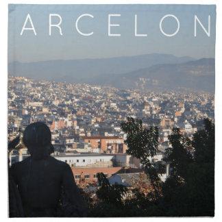 Barcelona-Postkarte Stoffserviette